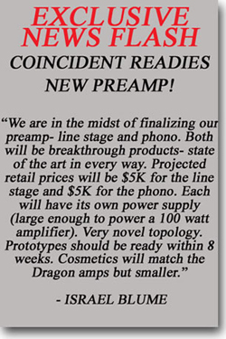 Coincident Readies new Preamp!