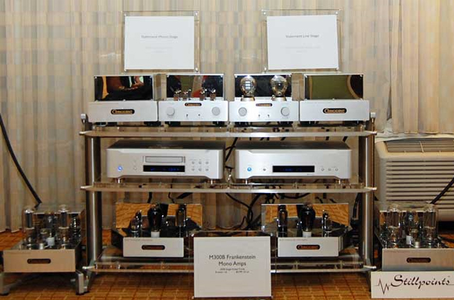 Israel also showed the new 2-piece Statement Phono Preamp at $5,499 (top left).