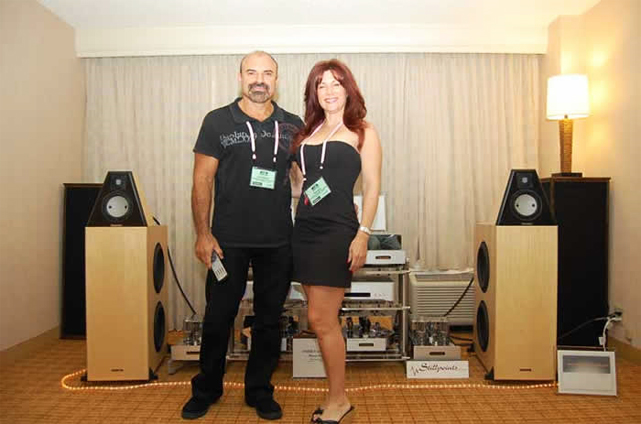Israel and Evelyn Blume were showing the new Coincident Pure Reference Extreme speakers